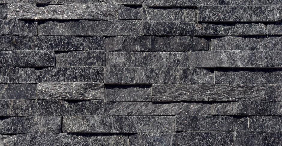 Black Quartz Split Face Mosaic Tile